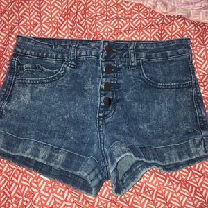 Stonewashed Jean shorts